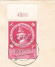 Germany Hitler Birthday Date Bremen Registered With # Tab Selvage Cover 2x