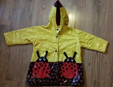 Driplets 3T by Wippette Kids Girls Lady Bug Yellow Red and Black Raincoat