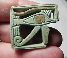 ZURQIEH -TAT78- ANCIENT EGYPT , NICE FAIENCE EYE OF HORUS . 600 - 300 B.C