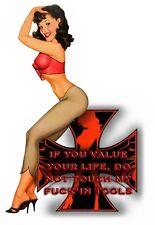 Funny Warning Sticker - Hot Girl Toolbox Decal - Sexy Girl Tool Box MADE USA