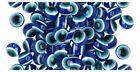 Lucky Cobalt BLUE White + Black EVIL EYE Round BEADS ~Sturdy RESIN 8 10, 12 14mm