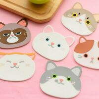 Silicone Drinks Coasters Mould Mold Cartoon Placemat for Kids Novelty New