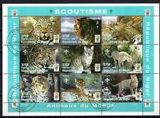 Animales Grandes felinos Níger (159) serie completo 9 sellos matasellados