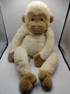 "Jumbo FAO Schwarz Tan Spider Monkey Plush Stuffed Animal SOFT Large 36"" Rattle"