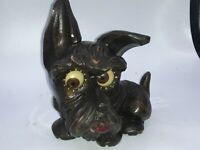 Rare OSWALD  SCOTTIE  ROLLING EYE CLOCK Works Great Condition