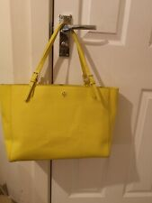 Tory Burch ladies large yellow shopper. NOW REDUCED !!