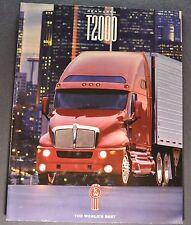1996 Kenworth Truck Model T2000 Catalog Sales Brochure Excellent Original 96