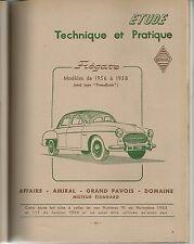 REVUE TECHNIQUE AUTOMOBILE 152 RTA 1958 RENAULT FREGATE 1956 1958 + VESPA 400
