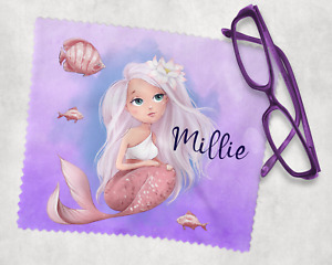 Kids Personalised Mermaid Lens Cleaning Cloth Glasses Cleaning Cloth Ideal Gift