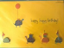 Papyrus Birthday Card: 3D Handmade Little Turtles with Balloon Cupcake - amazing