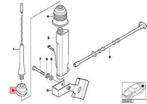 Genuine BMW Z3 Roadster Antenna Seal For Short Rod OEM 65218411562