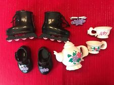 Amazing Ally Interactive Doll Black Mary Jane Shoes Skates Teapot Cups Barrette