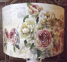 Pink Rose Lampshade Shabby Chic lamp shade vintage cream blush FREE GIFT