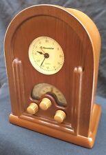 ROADSTAR HRA-1430 Orologio analogico Vintage Wooden Radio arredamento in Legno