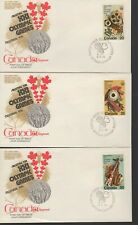 Canada - Olympics - 684-6 U/A - 3 Fdcs - Kingswood Cachet - 1976