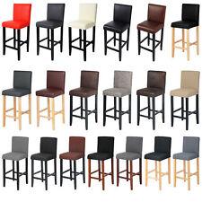 Tabouret de bar avec dossier en cuir synthétique/lin Chaise de bar cuisine f023