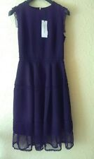 NWT GERARD DAREL GORGEOUS BLACK FIT AND FLARE DRESS SIZE 38 UK 10