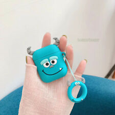 Cute 3D Monster Sulley Headset Airpods Charge Case Cover Skin For Airpod + Ring