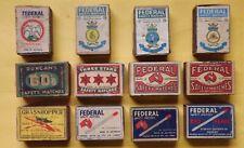 Australian matchbox Federal Redhead Duncans Three Stars cigars cigarette matches