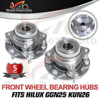2x Front Wheel Bearing and Hub Assembly for Toyota Hilux KUN26R GGN25R 4X4 4WD