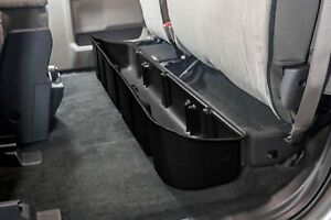 DUHA Under Seat Storage For F150 Ford SuperCab 2015-2019 Black Rear 20106
