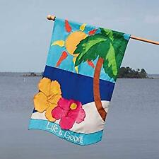 """New listing Life is Good 15634 Applique House Flag 28"""" x 44"""""""