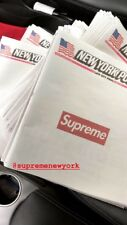 Supreme New York Post Newspaper New/Unused August 13th 2018