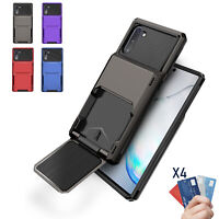 For Samsung Galaxy Note 10+ Plus Shockproof Wallet Case Card Holder Slot Cover
