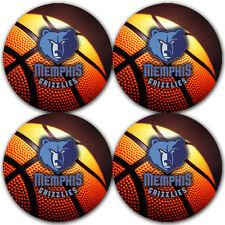 Memphis Grizzlies Basketball Rubber Round Coaster set (4 pack) / RNDRBRCSTR2044