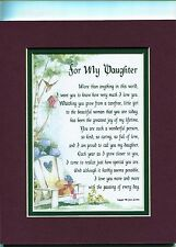 #47 A Poem Gift 16th 18th 21st 30th Birthday Present For A Daughter