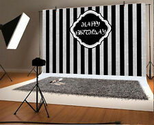 7*5Ft Vinyl Background Birthday Theme Stripes Photography Photo Backdrop Studio