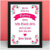 PERSONALISED Date of Birth Gifts for Mummy Nanny Mum Granny Her Birthday