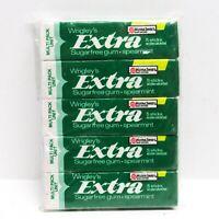 Vintage 80s Wrigley's EXTRA Sugarfree Gum Spearmint 5 Packs Full 25 Sticks Nutra