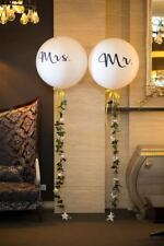 Mr & Mrs Balloons Black & White Wedding Engagement Hens Party Supplies 2 x 90cm