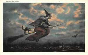 Halloween the Salem Witch vintage postcard FFF