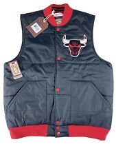 Mens Chicago Bulls Puffer Vest Large NBA Mitchell & Ness Hardwood Classics NewOS