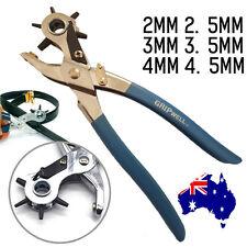 Revolving Leather belt hole punch puncher & grommet eyelet plier craft tool kit