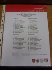 01/08/2010 COLORI teamsheet: EMIRATES CUP 3rd posizionare play-off-AC MILAN V Lyon.