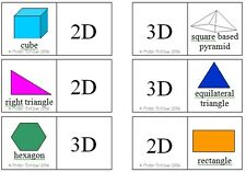 2D-3D SHAPE DOMINOES SET – teacher resource MATHS