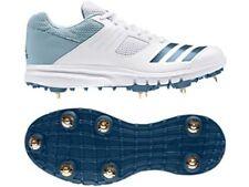 2019 adidas Howzatt Spike White Blue Cricket Shoes Size UK 8.5, 11.5 & 12