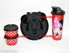 NEW Tupperware Disney Minnie Mouse Magical Snack Set Wonders Tumbler Snack Cups