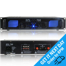SKYTEC Spl700 Power Amplifier 700w PA Rack Mount DJ Party Stereo Hi Fi Audio Amp