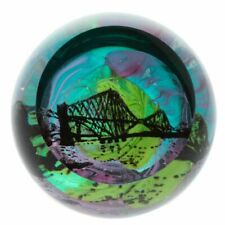 Caithness Glass Northern Aurora Forth Bridge Paperweight Boxed U18045