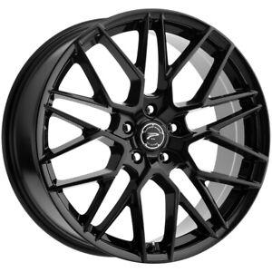 "Platinum 459BK Retribution 20x8.5 5x115 +35mm Gloss Black Wheel Rim 20"" Inch"