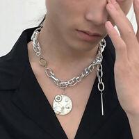Gotisch Rock Collar Hip Hop Planet Earth Pendant Punk Choker Kette Halskette