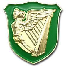 IRELAND HARP WINGED MAIDEN ERIN GO BRAGH IRISH GREEN GOLD LAPEL PIN GIFT BOX BAG