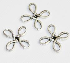 12 pcs of  square flower links 23.5mm, zinc alloy connectors availavle  5 colors