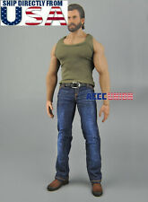 "1/6 Tank Top Jeans Boots Set C For 12"" PHICEN M33 M34 M35 Muscular Male Figure"