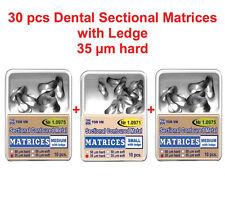 30 pcs Dental Small Medium Sectional Contoured Matrices Matrix with Ledge TOR VM