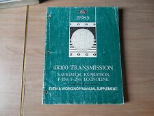 1985 Ford 4R100 Transmission Factory Manual Supplement